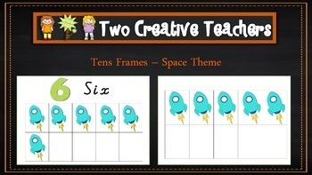 Ten Frames Pack Space Theme