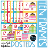 Ten-Frames Bright Pencil Kids Ten-Frames Number Posters