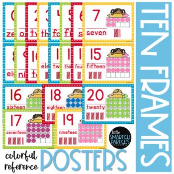 Ten-Frames: Pencil Kids Ten-Frames Number Posters