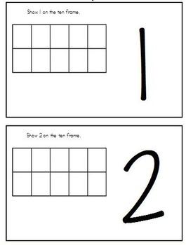 Ten Frames Playdough Work Mats 1-20 and Self Check Sheets