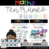 Ten Frames Poster & Worksheet | BUNDLE