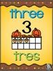 Ten Frames Posters - Fall Pumpkins Theme - Eng, Span & Dual