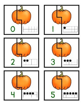Pumpkin Ten Frame Matching Game