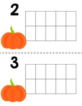 Ten Frames- Pumpkin Themed