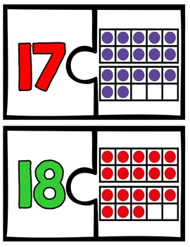 Ten Frames Puzzles (Numbers to 30)