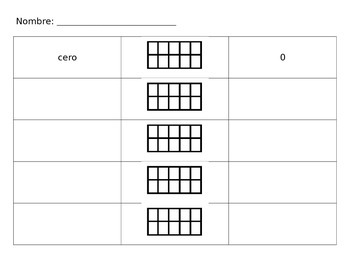 Ten Frames QR Code Center - Response Sheet