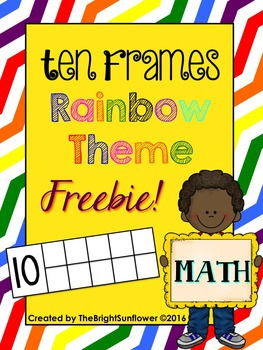Ten Frames Rainbow Theme
