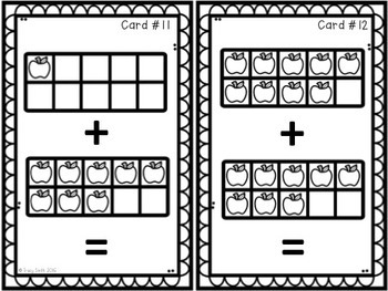 Ten Frames SCOOT Game - Addition to 20 Task Cards - Apple Themed!