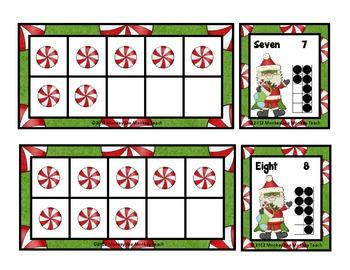 Ten Frames: Santa's Super Sweet Ten Frames / Christmas