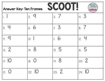 Ten Frames Scoot Game