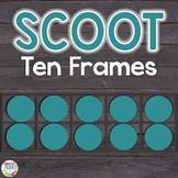 Ten Frames Scoot Game   Task Cards