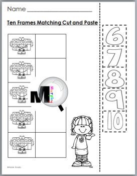 Ten Frames Self-Correcting Number Puzzles and Printables Numbers 0-10