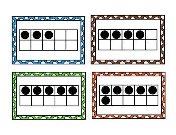 Ten Frames Set   Standard & Non-Standard Arrangements