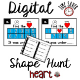 Ten Frames Shape Game:  PowerPoint Hearts Game