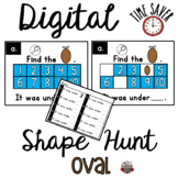 Ten Frames Shape Game:  PowerPoint Oval Game