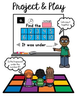Ten Frames Shape Game:  PowerPoint Pentagon Game