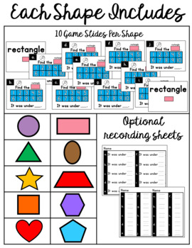 Ten Frames Shape Game:  PowerPoint Rectangle Game