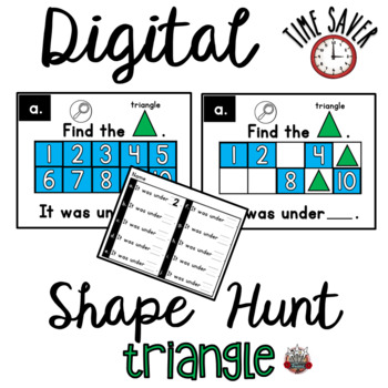 Ten Frames Shape Game:  PowerPoint Triangle Game