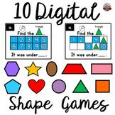 Ten Frames Shape Games BUNDLE: 10 Shape Games