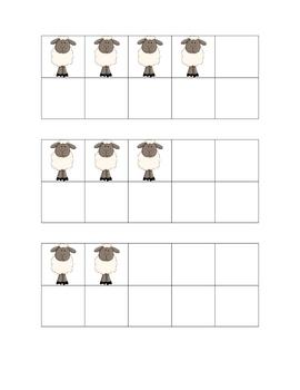 Ten Frames - Sheep Themed