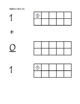 Ten Frames Simple Addition up to 10
