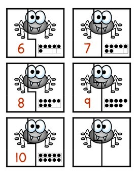 Spider Ten Frame Matching Game