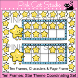 Ten Frames: Star Theme Coordinating Set Clip Art - Personal or Commercial Use