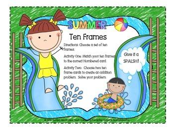 Ten Frames (Summer Theme)
