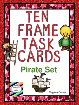 Ten Frames Task Cards:  Pirate Theme