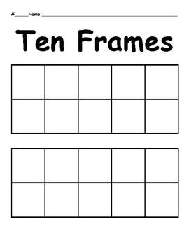Ten Frames Template