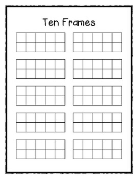 It is a photo of Satisfactory Tens Frame Printable