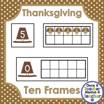 Ten Frames • Thanksgiving