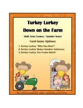 Ten Frames: Turkey Lurkey Down on the Farm 0-10