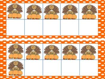 Ten Frames Turkeys
