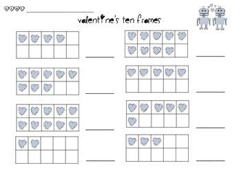 Ten Frames-Valentine's Day