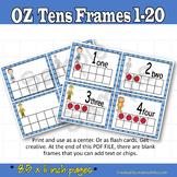 Ten Frames Wizard of Oz inspired Number Cards 1-20