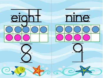 Ten Frames - Words, Numerals and Ten Frames - 0-20