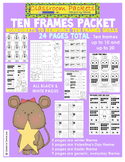 Ten Frames Worksheet Packet