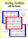 Ten Frames - adding - 1 and 2 digit sums and doubles