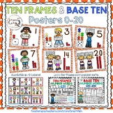 Ten Frames and Base Ten Posters 0-20 (Orange Dots)