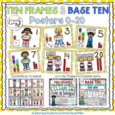 Ten Frames and Base Ten Posters 0-20 (Yellow Dots)