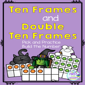 Ten Frames and Double Ten Frames:  Halloween