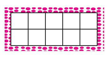 Ten Frames and Flashcards for Common Core Math