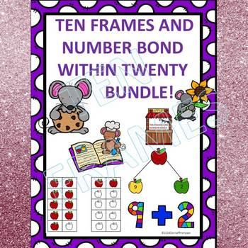 """Number Bonds Within Twenty """"Dab or Color"""" (Ten Frames)"""