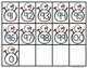 Ten Frames and Number Cards (0-100) Hands-On Math {SNOWMAN}