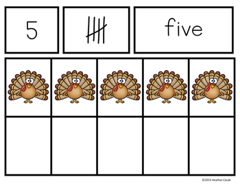 Ten Frames and Number Cards (0-100) Hands-On Math {TURKEY}