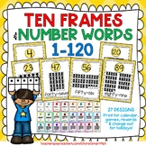 Ten Frames and Number Word Posters 1-120 (Yellow Chevron)
