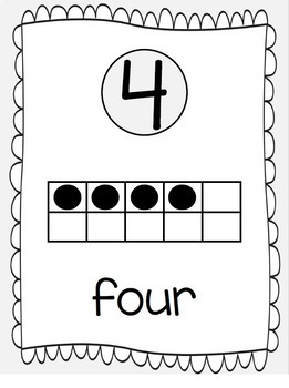 Ten Frames and Number Words 1-100 (Pale Gray)