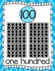 Ten Frames and Number Words 1-100 (Arctic Blue Chevron)