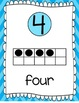 Ten Frames and Number Word Posters 1-120 (Arctic Blue Chevron)
